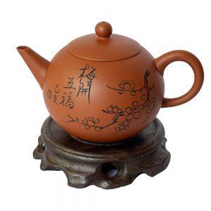 Ấm-trà-H3-đỏ-160ml-hoa-mai-1